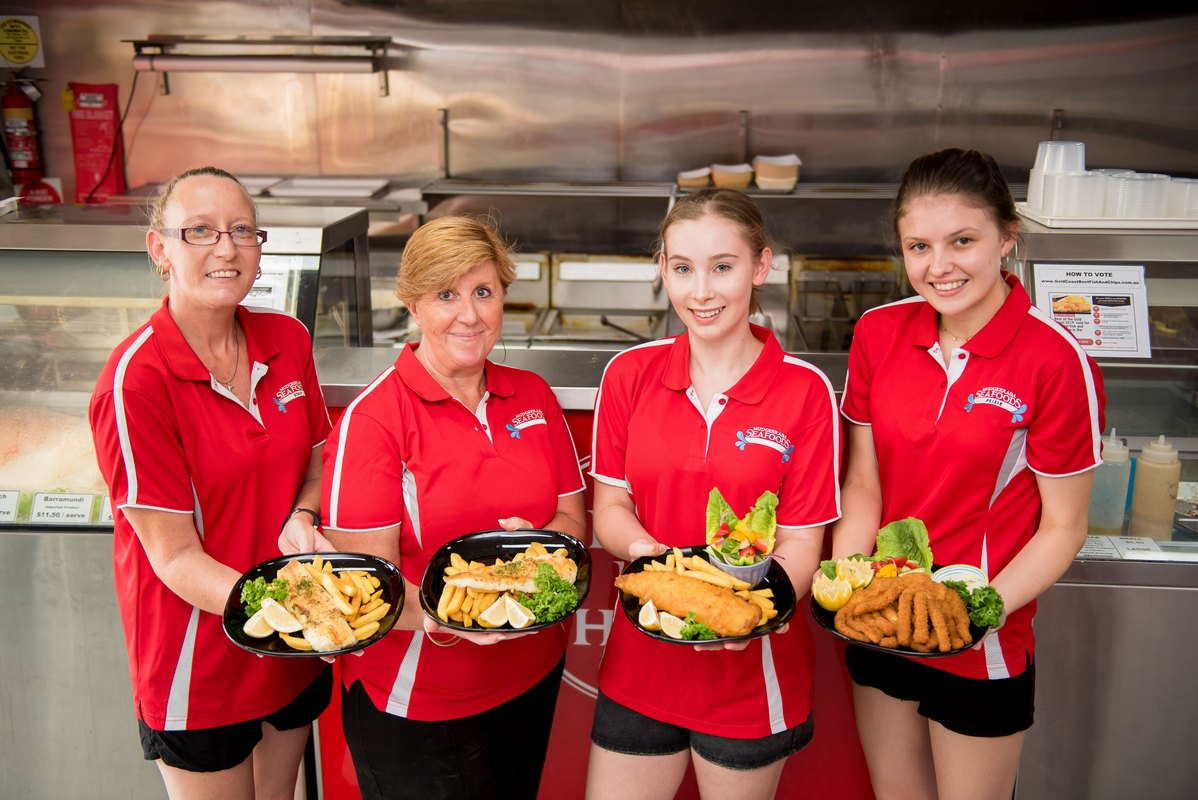 Fish and chip takeaway dishes - fish and chips Gold Coast