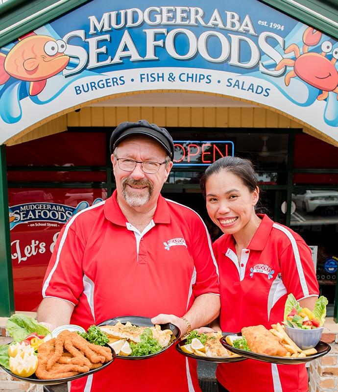 peisie and peter hawkes mudgeeraba seafoods
