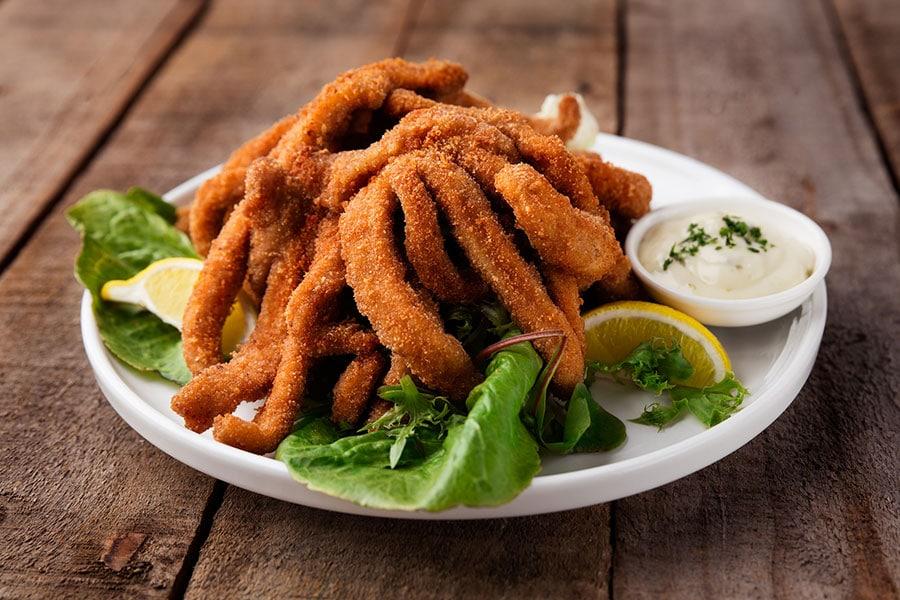 seafood menu calamari feast