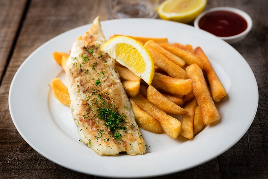 grilled fish and chips mudgeeraba seafoods