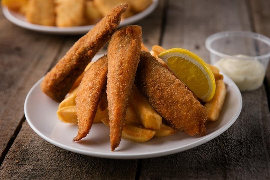 kids menu fish bites and chips