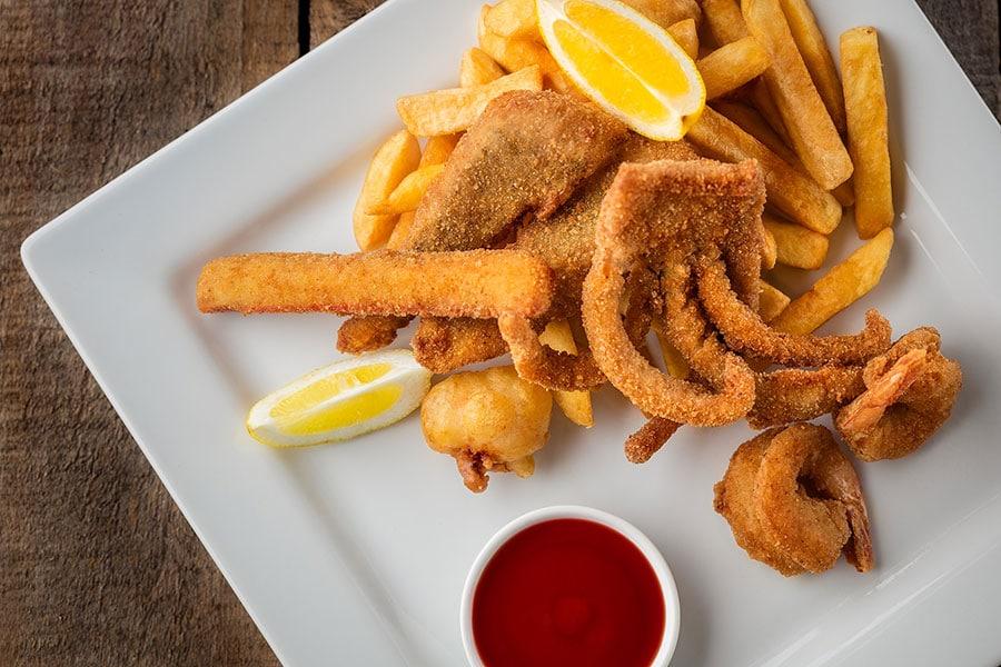 value pack menu seafood basket