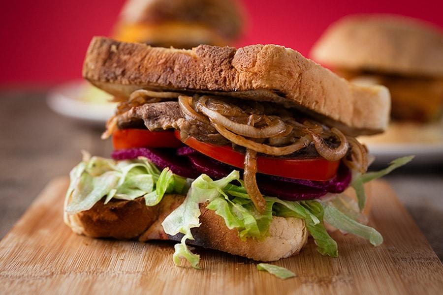 burger menu steak burger / sandwich