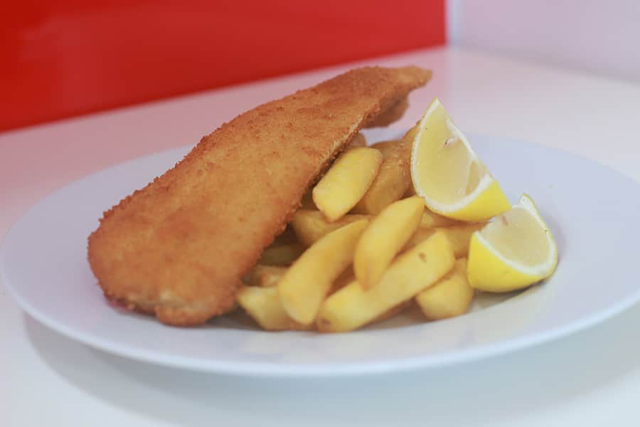 seafood menu crumbed fish and chips