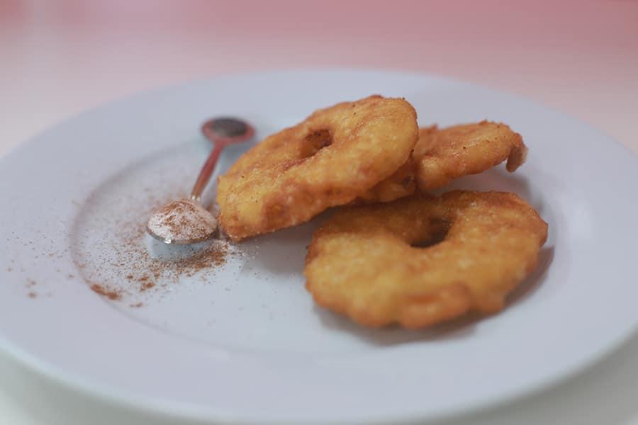 snacks menu pineapple fritter
