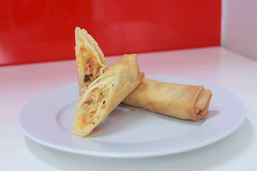 snacks menu vegetarian jumbo spring roll