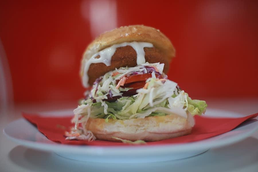 burger menu vegie burger