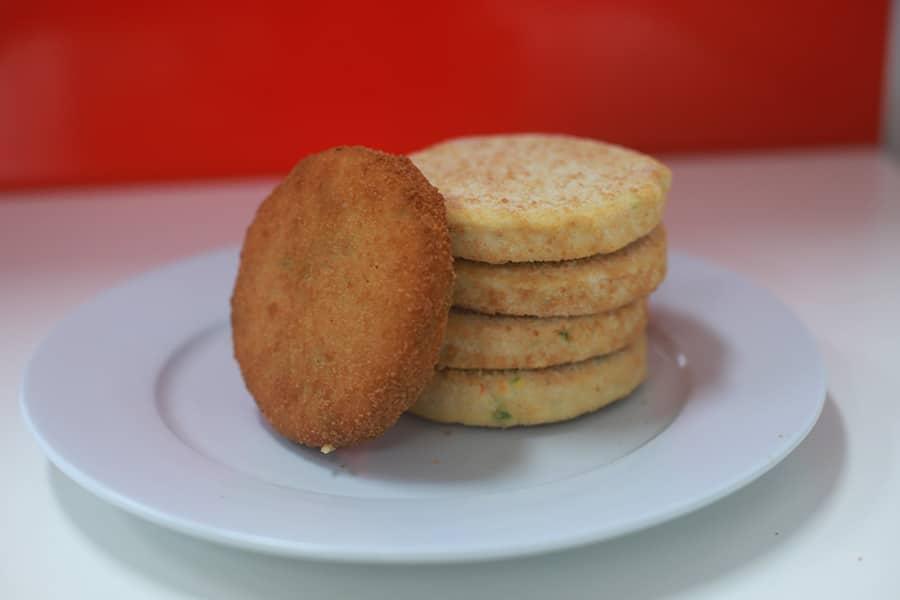 snacks menu vegie pattie