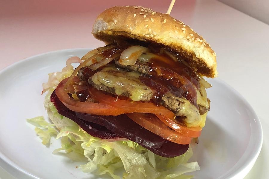 special jorja's double up burger