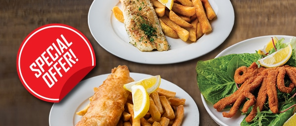 fish and chips and calamari special offer